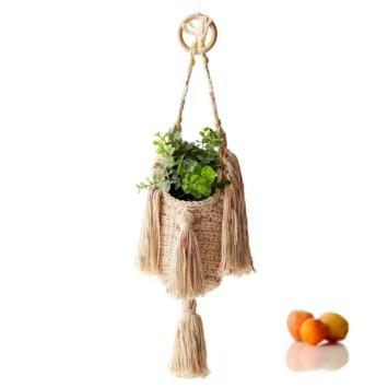 Boho Fringed Crochet Plant Hanger