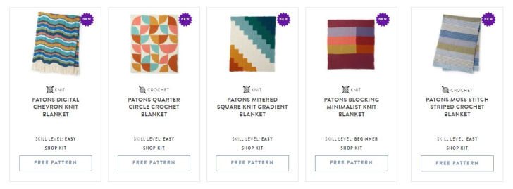 Patons Inspired Patterns