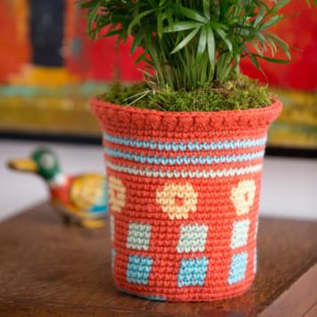 Tapestry Flower Pot Cozy