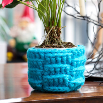 Bright Weave Plant Cozy