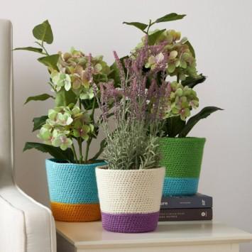 Dip Your Toe Crochet Plant Cozies