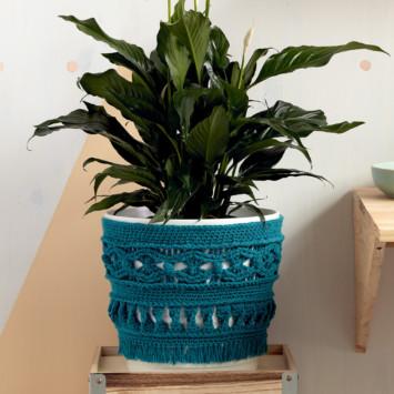 Large Potted Plant Crochet Cozy