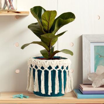 Little Potted Plant Crochet Cozy