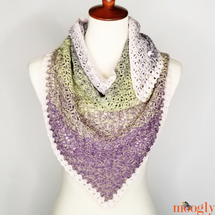Whispered Arrows Shawl - free on Moogly