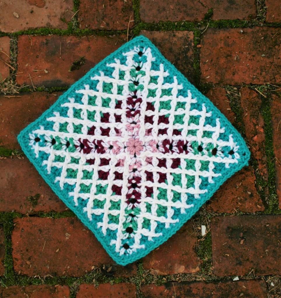 Quilt Ladies Square by Linda Dean Crochet