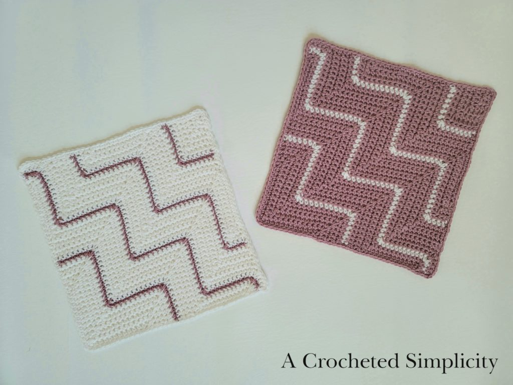 Diagonal Chevron Squares by A Crocheted Simplicity