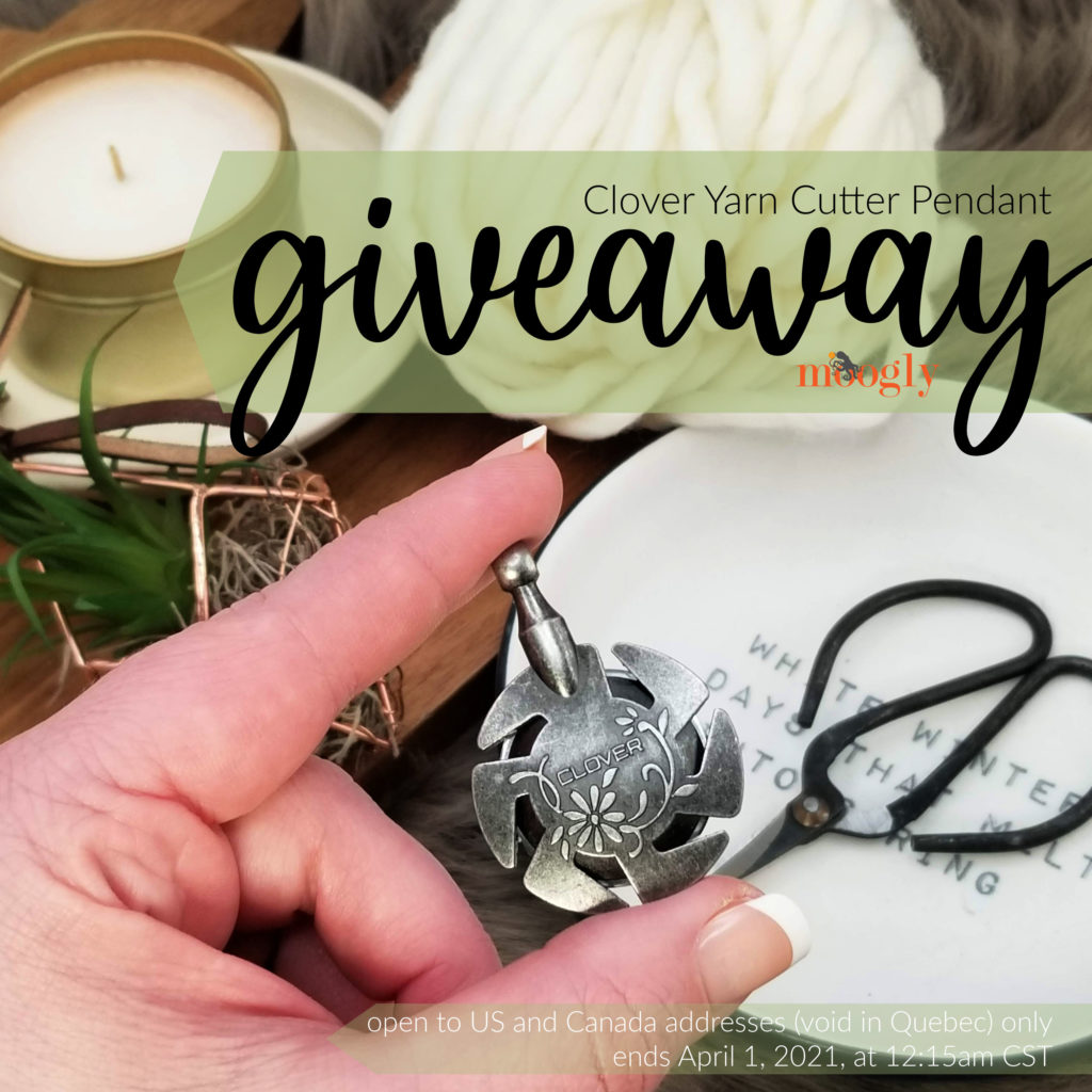 Clover Yarn Cutter Pendant Giveaway on Moogly