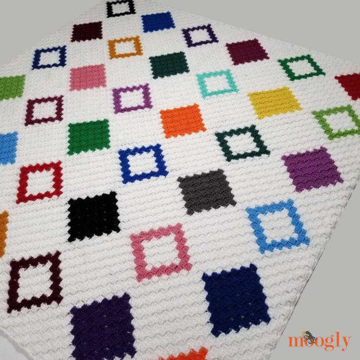 Diamond Quilt C2C Graphgan - angled