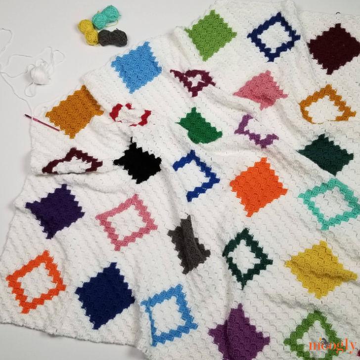 Diamond Quilt C2C Graphgan in progress