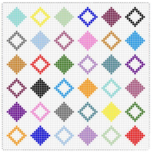 Diamond Quilt C2C Graphgan - one page pic