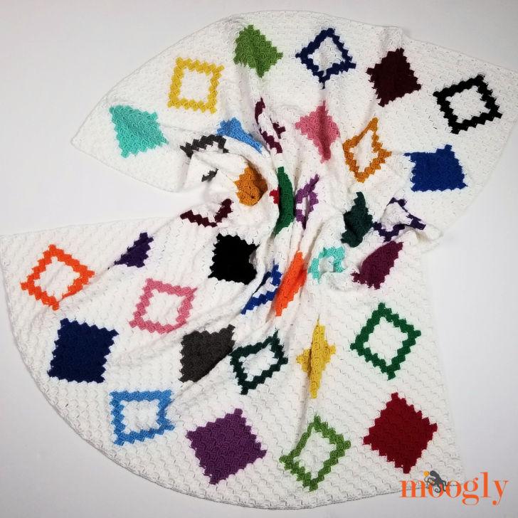 Diamond Quilt C2C Graphgan - by Moogly