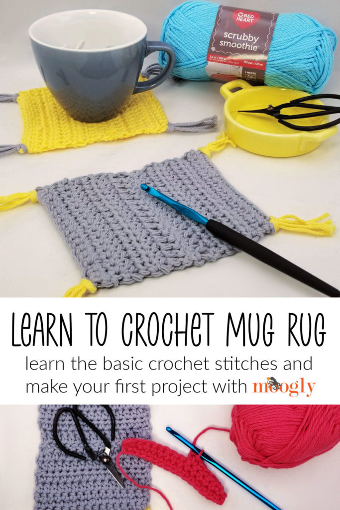 Learn to Crochet Mug Rug - learn how to crochet with Moogly and this free pattern!