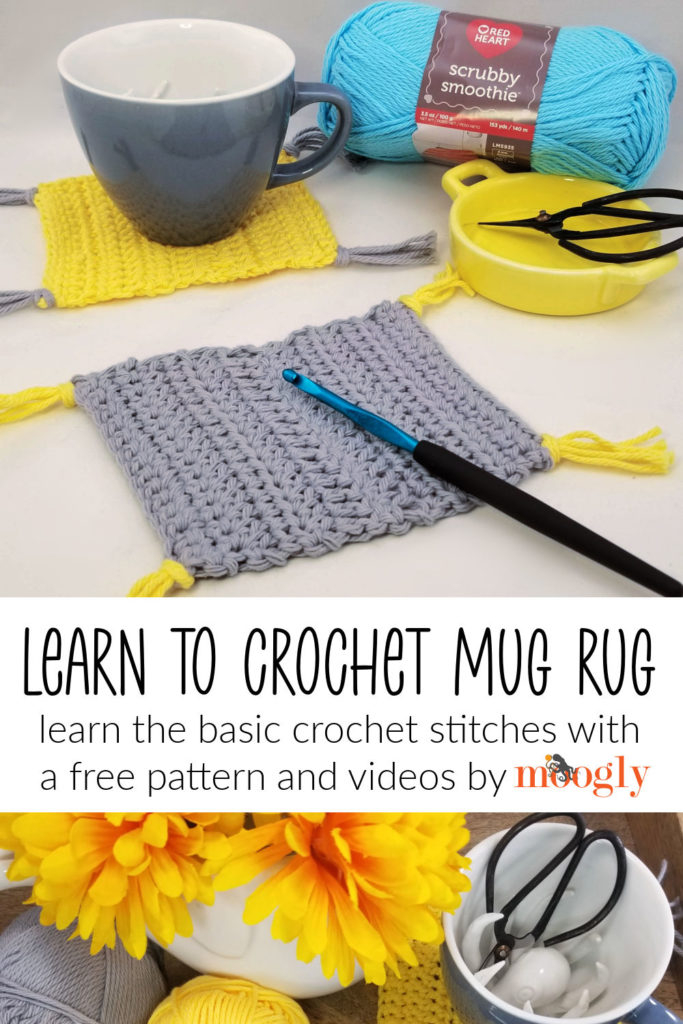 Learn to Crochet Mug Rug - Right and Left-Handed Videos to Guide you Through the Stitches and Pattern Reading