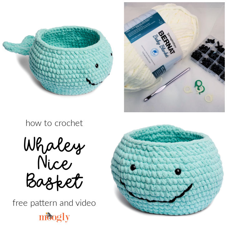 Whaley Nice Basket - get the pattern and video on Moogly