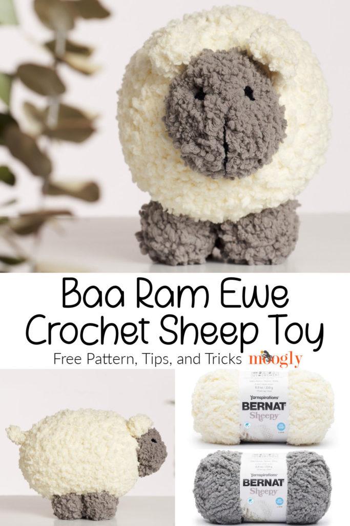 Baa Ram Ewe Crochet Sheep Toy