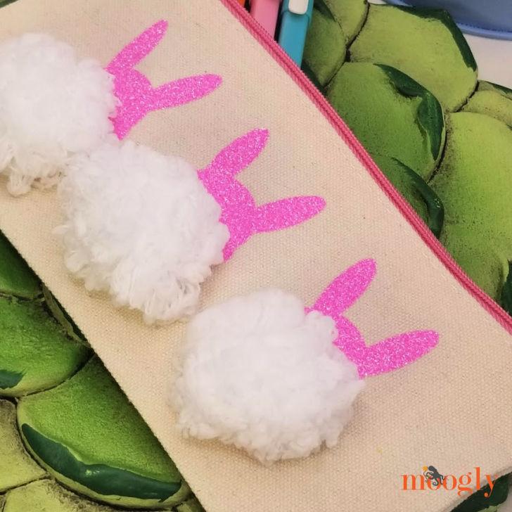 Bunny Pom Pouch Closeup