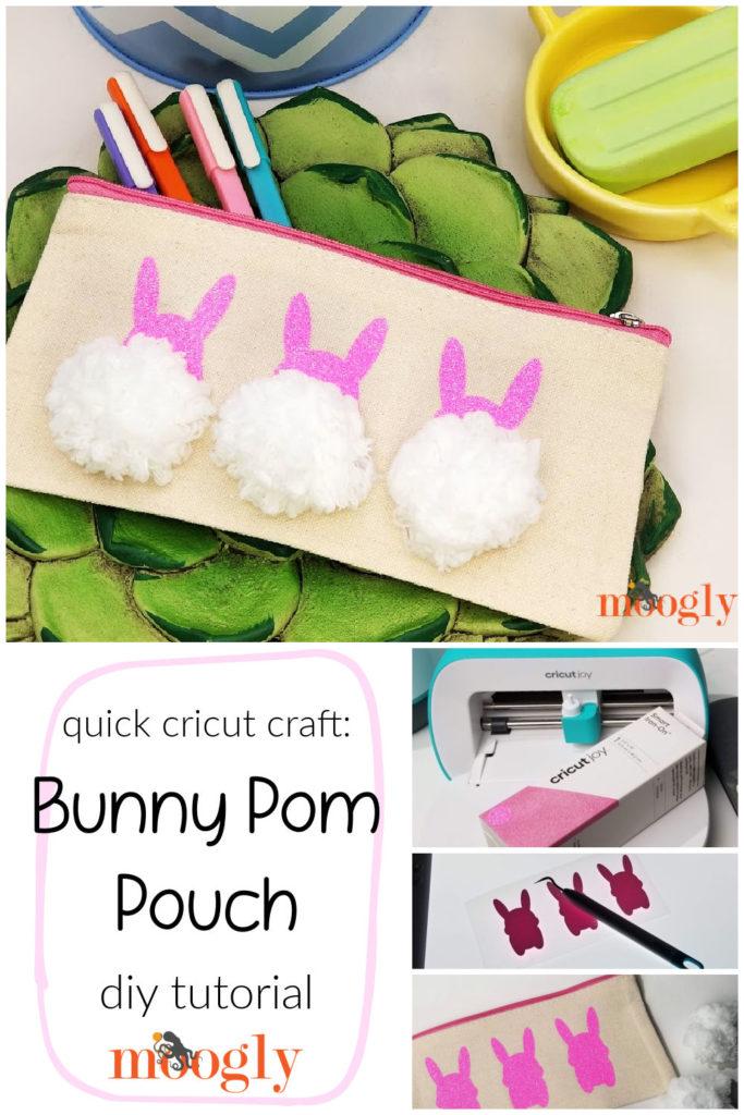 Bunny Pom Pouch - DIY Tutorial on Moogly