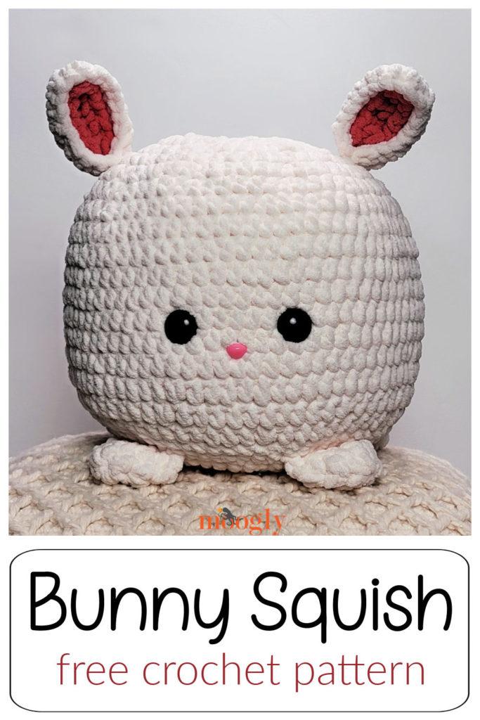 Bunny Squish - free crochet pattern on Moogly
