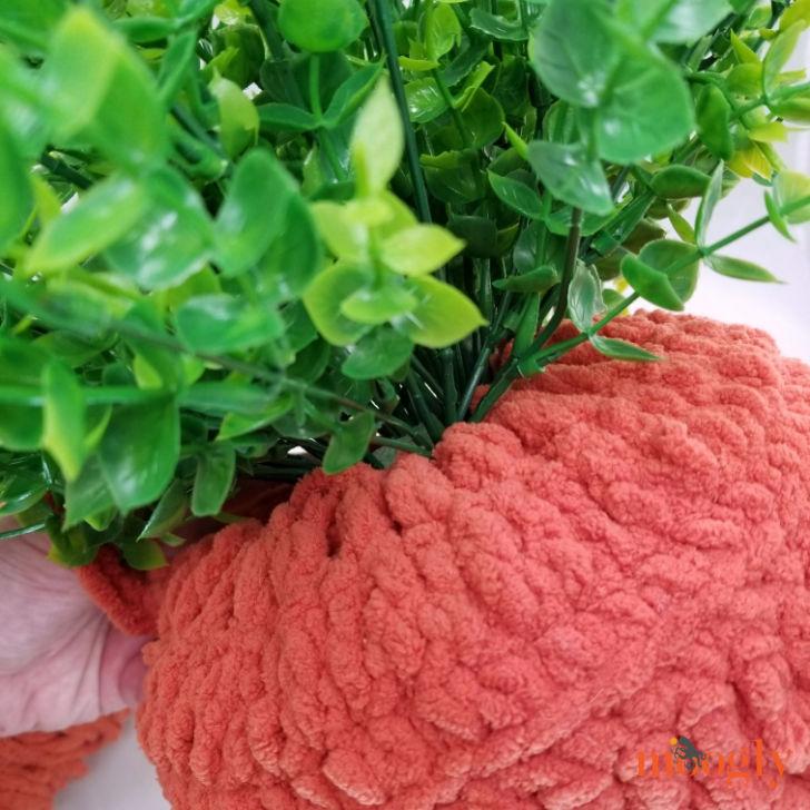 Carrot Door Basket - add greenery