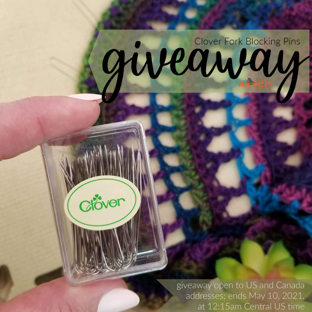 Clover Fork Blocking Pins Giveaway on Moogly