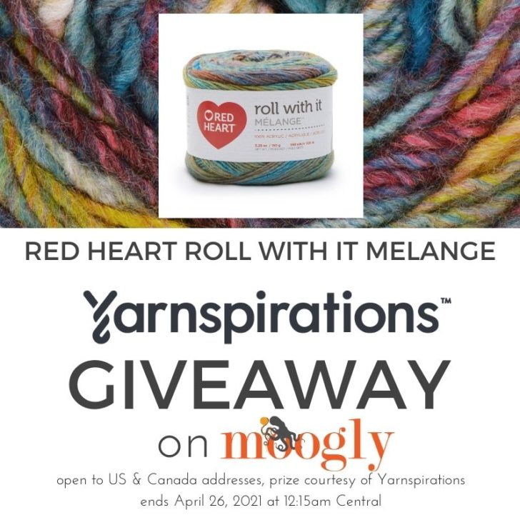 Red Heart Roll With It Melange Giveaway on Moogly