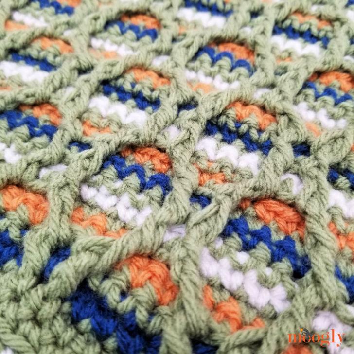 Striped Hourglass Square Closeup