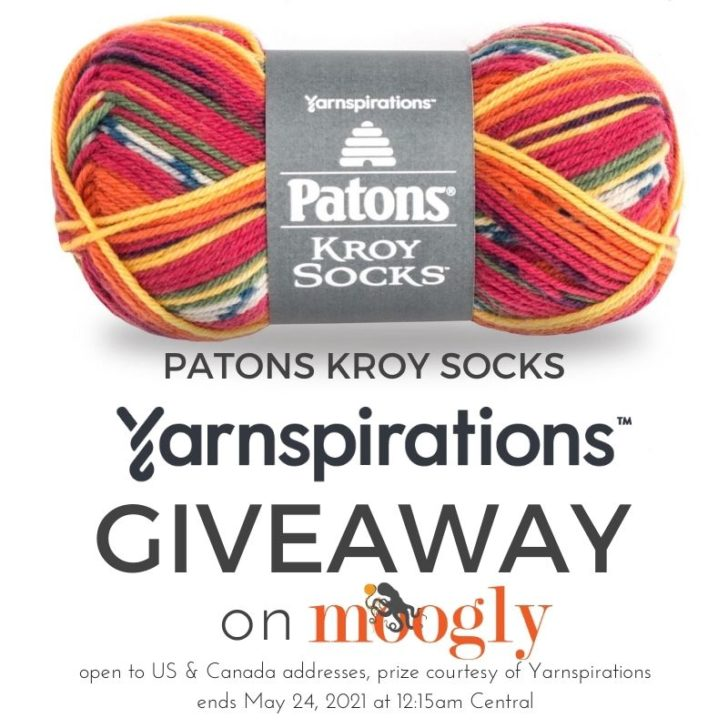 Patons Kroy Socks Giveaway on Moogly