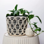 Patons Striped Hourglass Basket