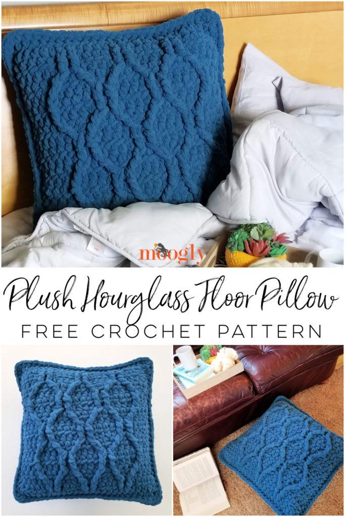 Plush Hourglass Floor Pillow Pinterest Collage