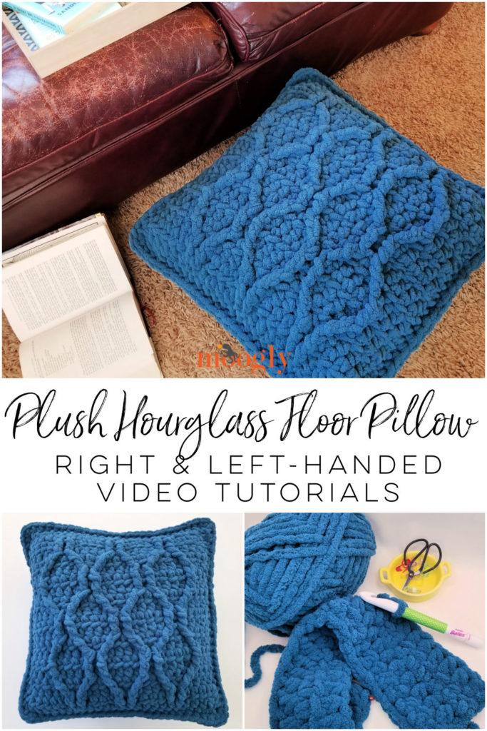 Plush Hourglass Floor Pillow Tutorial on Moogly