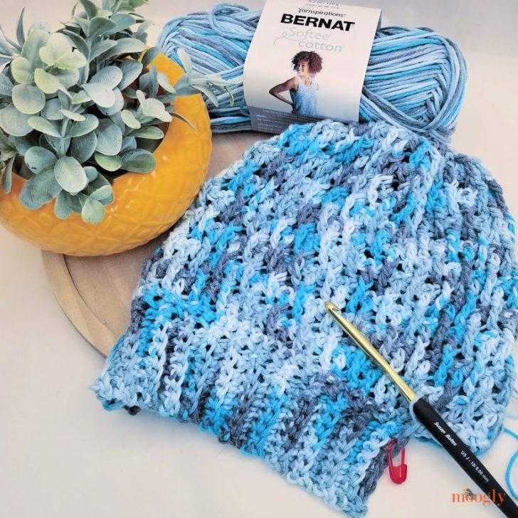 Riley Hat in Bernat Softee Cotton