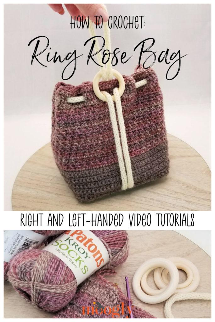 Ring Rose Bag Tutorial on Moogly