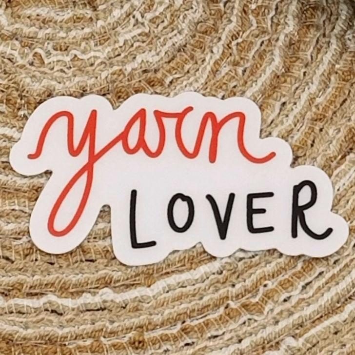 Simply By Amy Designs - yarn lover sticker