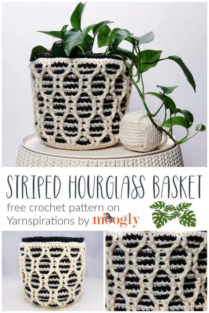 Striped Hourglass Basket - by Moogly