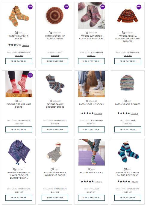 Patons Kroy Socks - patterns on Yarnspirations