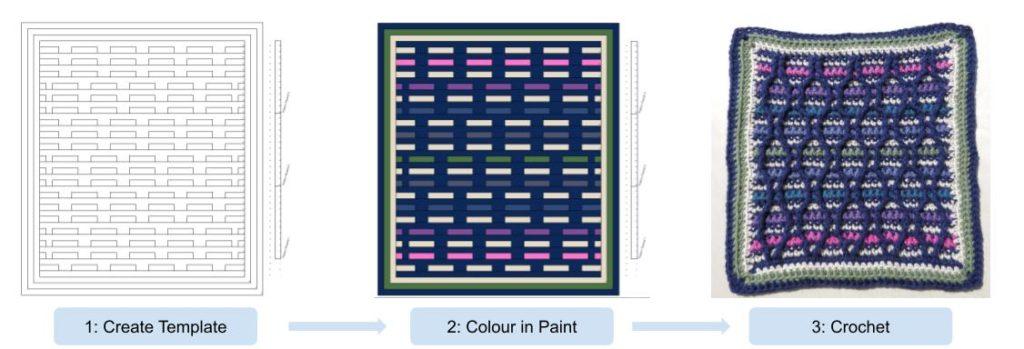 2 Striped Hourglass 3 Steps