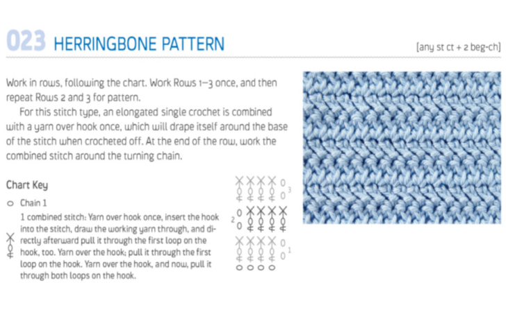 Herringbone Pattern from The New Crochet Stitch Dictionary