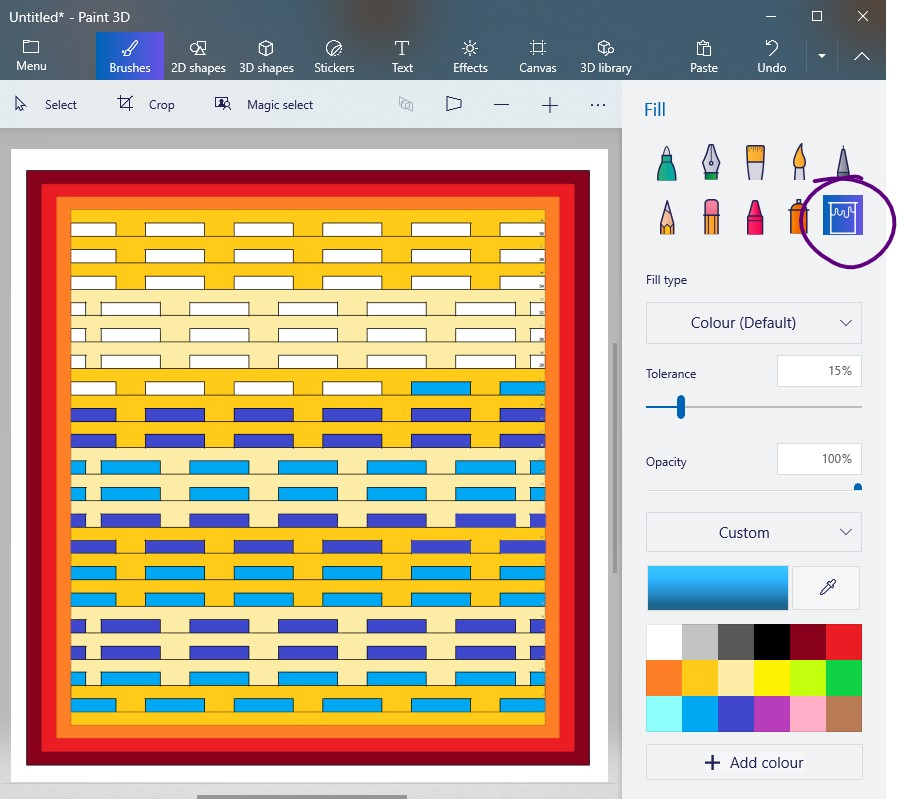 9 Playing with colours - how to make pattern color templates