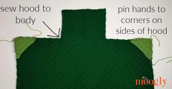 Cuddle Up Dinosaur Blanket - hood and hands