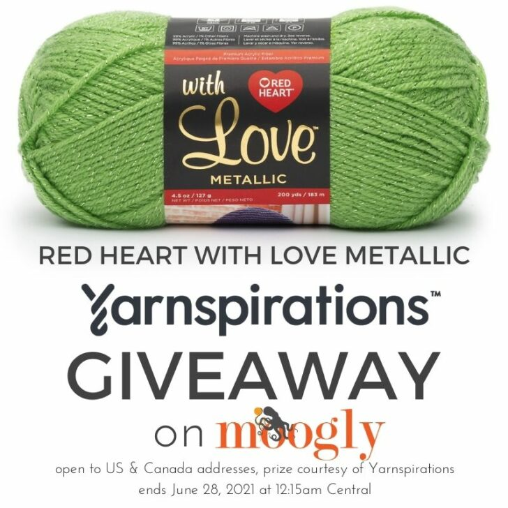 Red Heart With Love Metallic Giveaway on Moogly