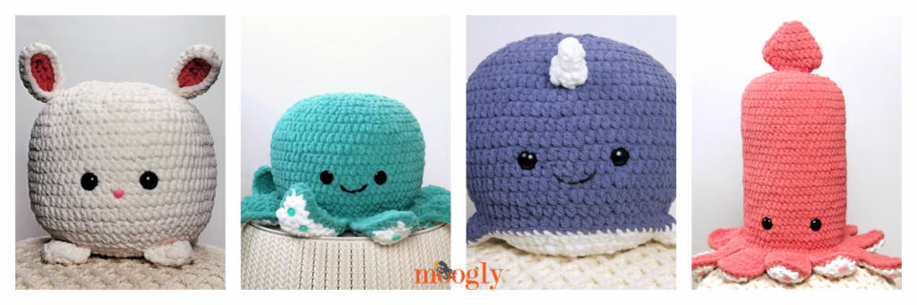 Squish Collage - patterns available on Moogly!