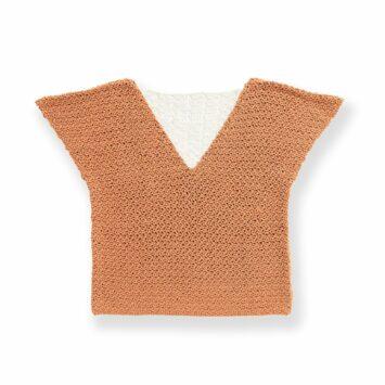 Bernat Lacy V-Neck Crochet Tee