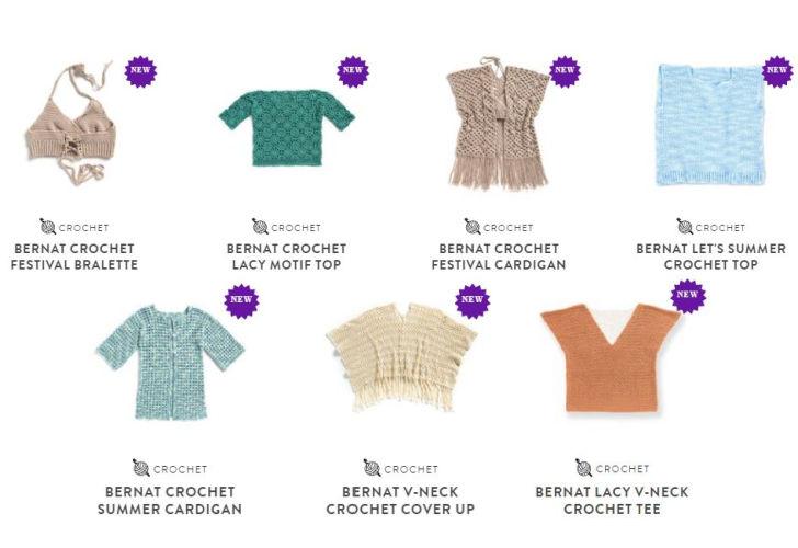 Bernat Softee Cotton Patterns