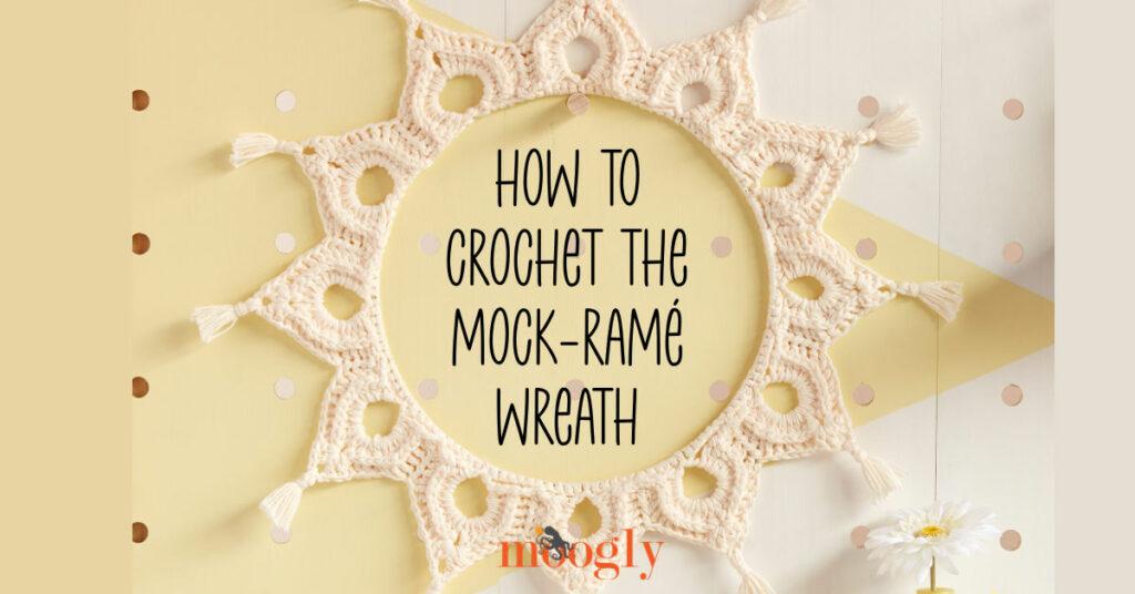 Como fazer a guirlanda Mock-ramé em crochê