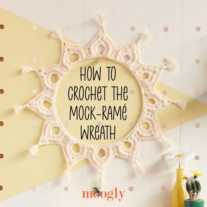 Comment crocheter la couronne de faux ramé