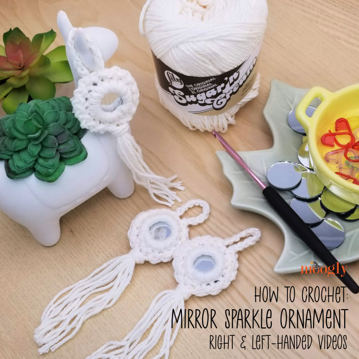 How to Crochet the Mirror Sparkle Ornament - Video tutorials on Moogly