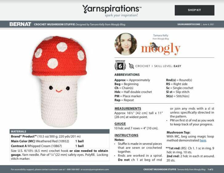Bernat Mushroom Stuffie PDF