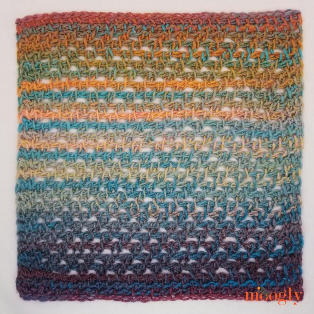 Screen Windows Square - free Tunisian crochet pattern on Moogly