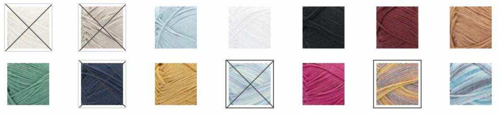 Bernat Softee Cotton Colorways