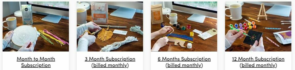 The Craft and Tea Box Subscription Plans